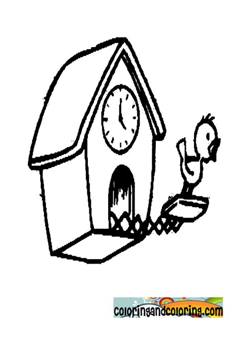 german cuckoo clock coloring page coloring pages