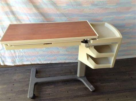 used hospital bed table for sale used hill rom patient mate overbed table for sale dotmed