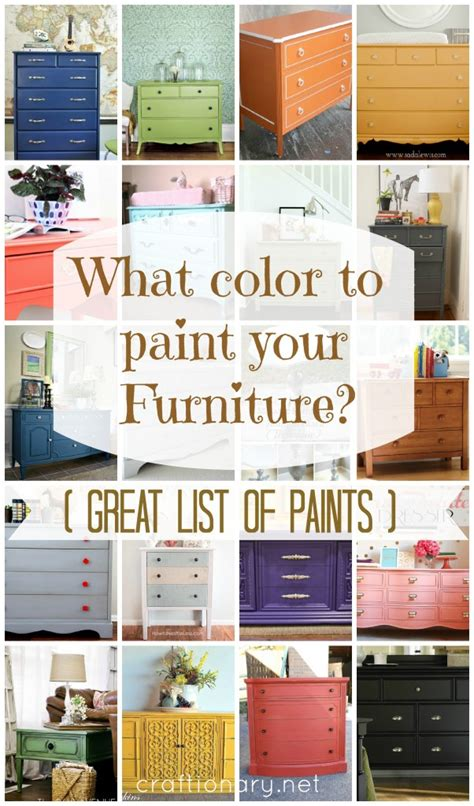 furniture color ideas craftionary