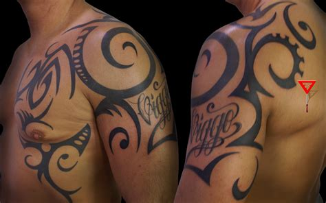 tribal tattoo with name needletime nl tribal tattoos