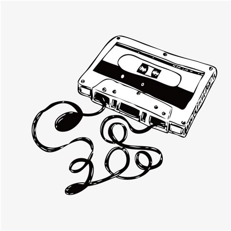cassette clipart cassette entries cassette magnetic black and white