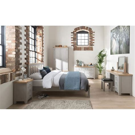 Wilkinsons Bedroom Furniture Wilkinson Furniture Clemence Soft Grey And Solid Oaktall Chest Furniture123