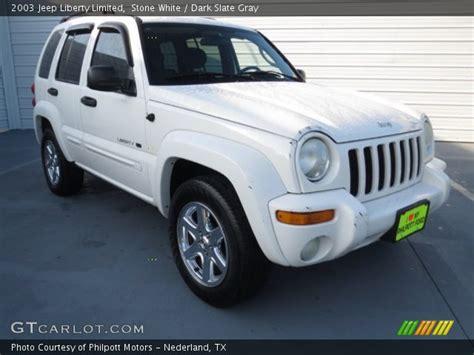jeep liberty white 2003 white 2003 jeep liberty limited slate gray