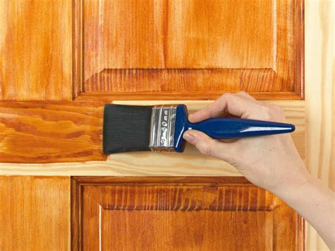 painting stained woodwork how to apply stain varnish wax dye or to wood how