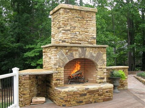 Decorating Ideas Kitchen by Outdoor Stone Fireplace Design Unique Hardscape Design