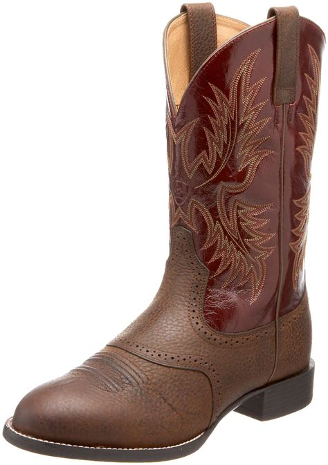 ariat mens heritage boots ariat mens heritage stockman boot in brown for brown