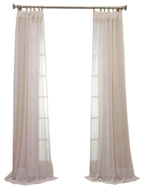 cream linen drapes open weave cream linen sheer contemporary curtains