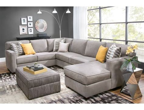 slumberland living room sets slumberland rise collection 3 pc right chaise