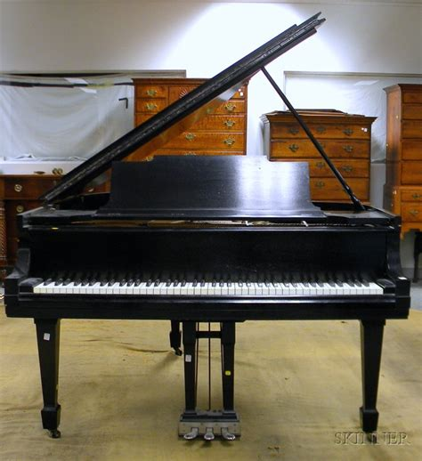 steinway bench steinway sons ebonized baby grand piano with bench