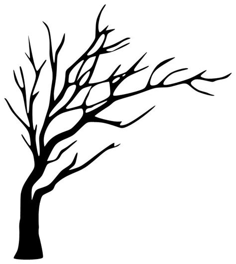 Leafless Tree Branch Outline by Tree Drawing No Leaves Search Silhouette Towels Tree Silhouette And