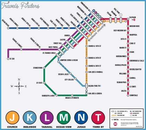 san francisco map muni san francisco metro map travelsfinders