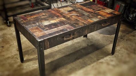 rustic industrial desk chair building a rustic industrial desk youtube