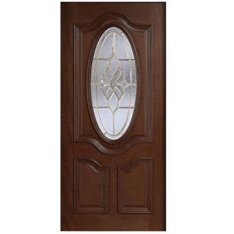 Oval Glass Front Entry Door Door 30 In X 80 In Mahogany Type 3 4 Oval Glass