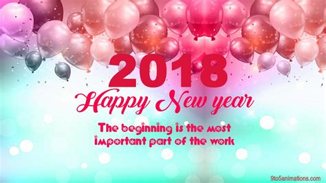 official new year 2018 greetings wishes for new year 2018 wallpapers 9to5animations