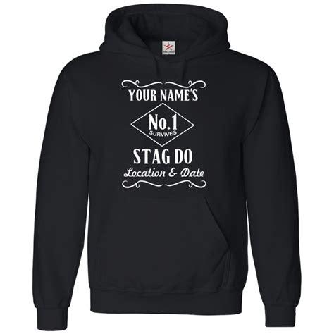 Printed Hoodie personalised front stag design printed on hoodie