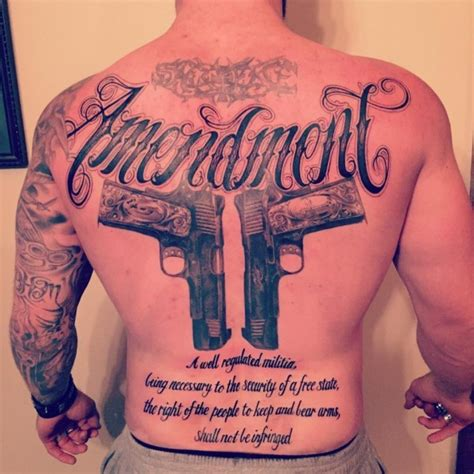 second amendment tattoo gun tattoos