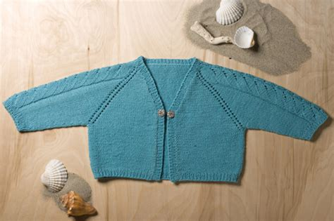 Sequel Raglan With Pattern Abu summer children s knitting pattern surfer shrug