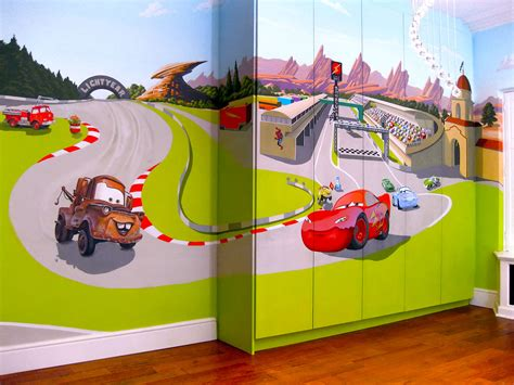 car wall mural pixar s cars mural for quot baby spice quot