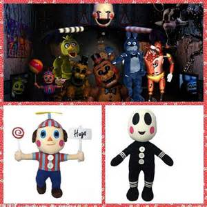 Fnaf five nights at freddy s sanshee freddy plushie bear clown balloon