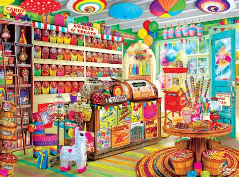 browse the puzzle shop corner candy store jigsaw puzzle puzzlewarehouse com