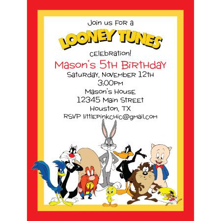 1000 Images About Riley S 6th Birthday On Pinterest Minion Party Invitations Tom And Jerry Looney Tunes Invitations Templates