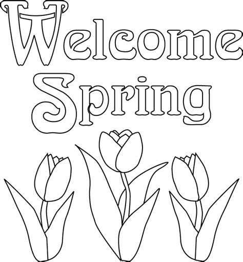 Welcome Spring Coloring Pages Gt Gt Disney Coloring Pages Springtime Coloring Pages
