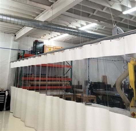 curtain wall partition industrial partitions akon curtain and dividers