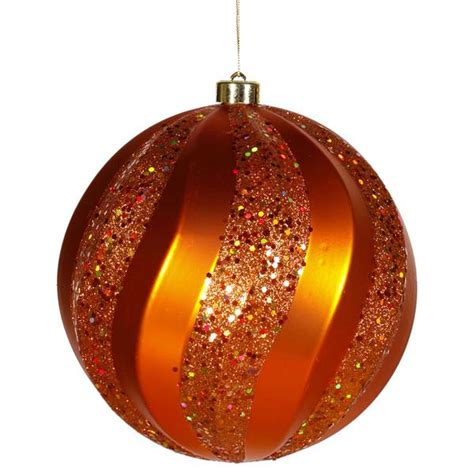 orange coloured christmas decorations vickerman 23626 orange colored tree ornament