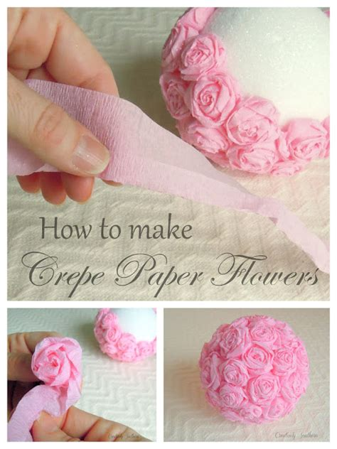 How To Make Flower Paper Balls - crepe paper flowers for an craft idea creatively