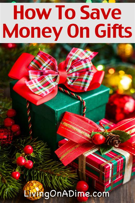 how to save money on christmas gifts living on a dime