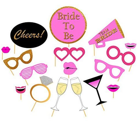 hens night photo booth props printable 96 diy bachelorette party games a green and pink