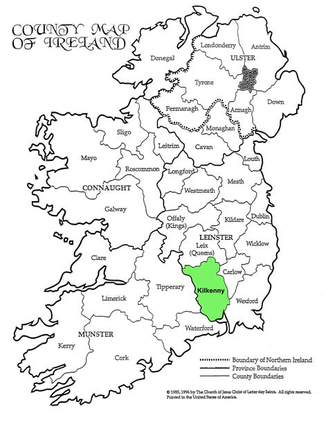 County Kerry Ireland Birth Records Kilkenny Historical Maps 171 Maps 171 Tobin Family Genealogy Site