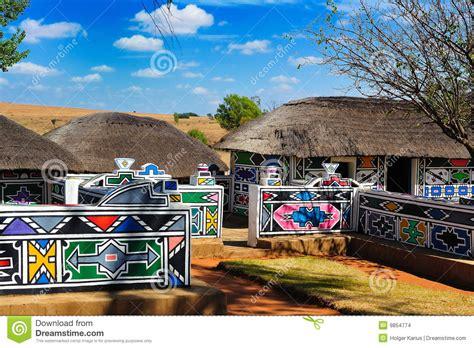 Historical House Plans by Village De Ndebele Afrique Du Sud Photo Stock Image Du