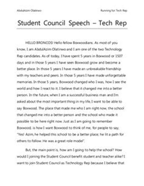 Sle Speech For Class President 1000 ideas about student council speech on