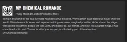 Mcr Break Letter Gerard my chemical romance not dead yet the new fury