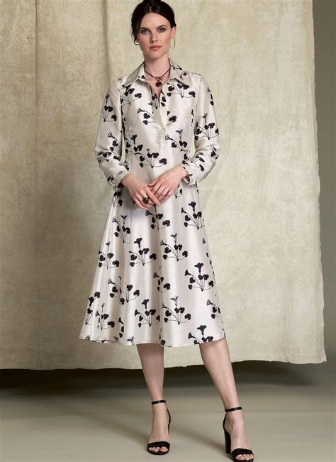 pattern for a shirt dress vogue patterns 1511 misses half placket long sleeve