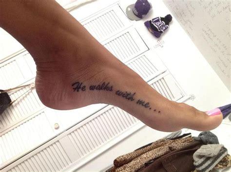 he walks with me tattoos tatoos