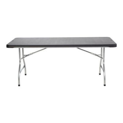 lifetime 6 ft black commercial stacking folding table