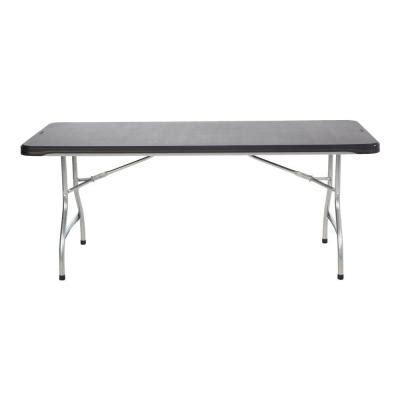 lifetime 6 ft black commercial stacking folding table