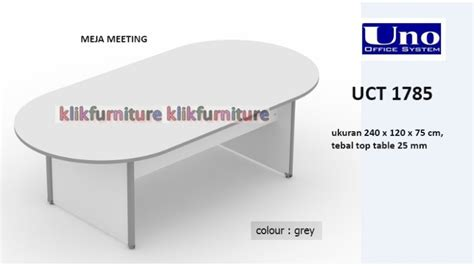 Meja Meeting Bundar Uno Uct 1781a 120 Cm uct 1785 uno meja meeting kantor oval classic sale