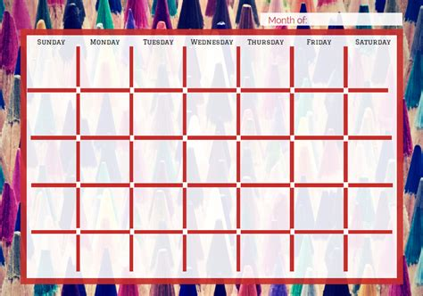 create your own calendar template free free printable calendars for teachers students