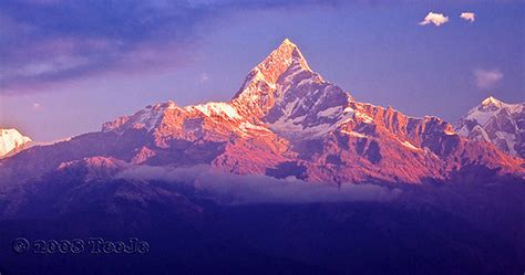 Macchapucchre (Fishtail Mountain) | In Pokhara early in ...