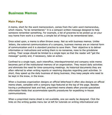 employee memo template 5 free word pdf document downloads sample
