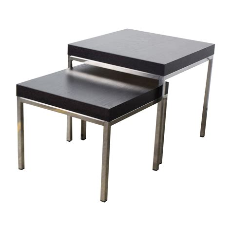 38 off ikea ikea klubbo black and chrome nesting tables