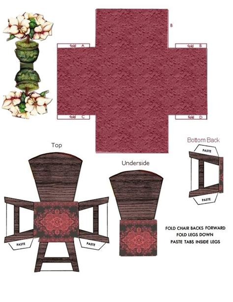 Papercraft Chair - furniture ammey s attic