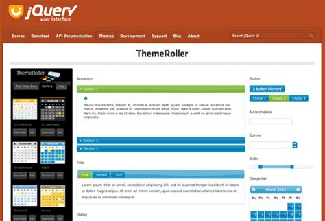 google jquery ui themes jquery for beginners part 6 jquery ui and further reading