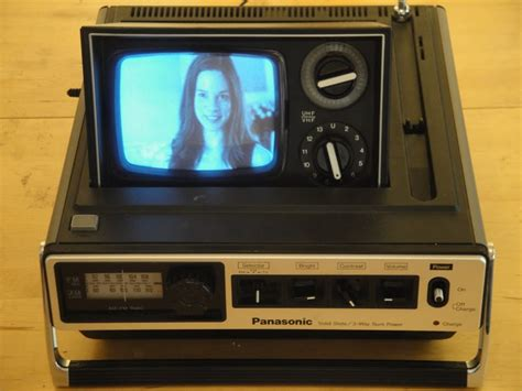 Tv Portable Panasonic panasonic tr 535 1976 tanru nomad retro computing
