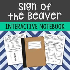sign of the beaver book report sign of the beaver novel unit projects sign of the