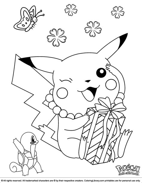 pokemon coloring picture