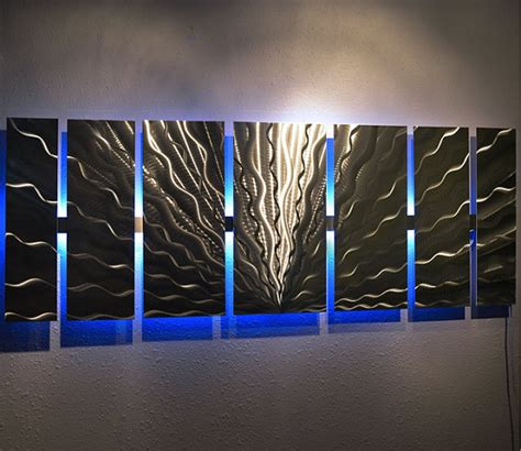 color changing led modern abstract metal wall by dv8studio